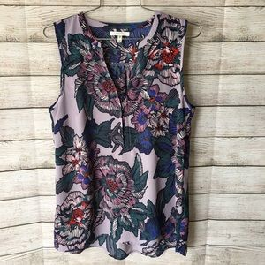 MAURICES Floral Sleeveless Blouse